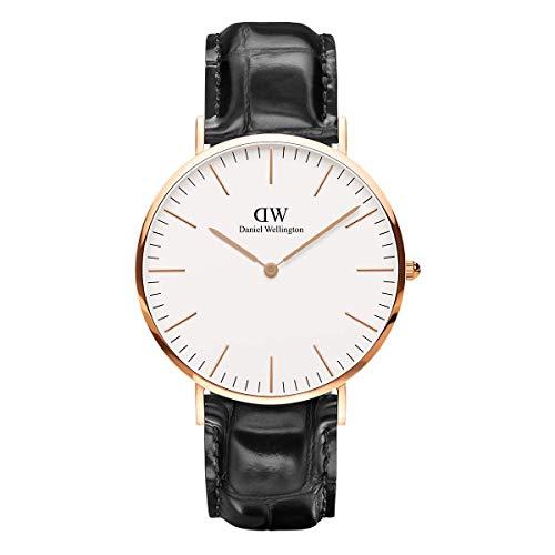 Daniel Wellington Classic Reading, Schwarz/Roségold Uhr, 40mm, Leder, für Herren