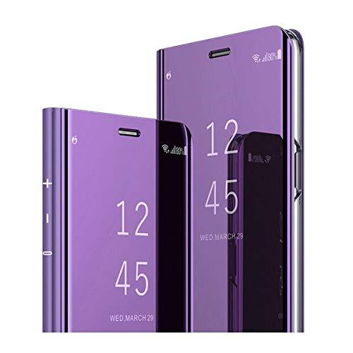 Kompatibel für Samsung Galaxy S7 Handyhülle,Galaxy S7 Edge Handy Schutzhüllen Spiegel Clear View Standfunktion Cover 360 Grad Stoßdämpfung Hülle Kratzfeste Flip s7 Slim