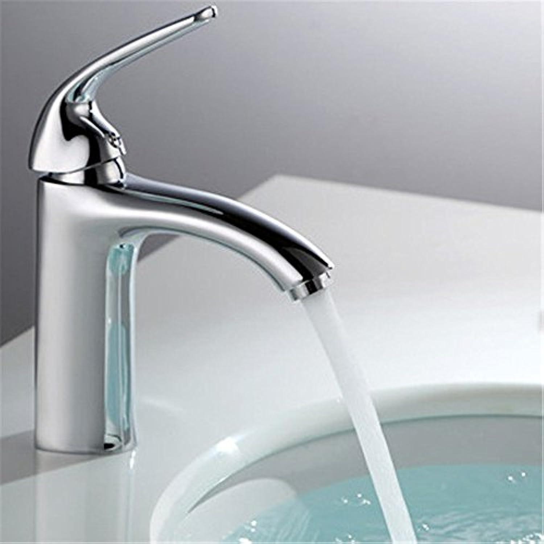 Xicaimen Wasserfall Wasserhahn Bad Waschtischarmatur Mischbatterie Messing Warm- und Kaltwasser Einhebelmischer Waschtischmischer Bad Armatur für Badezimmer Waschbecken Brass Body