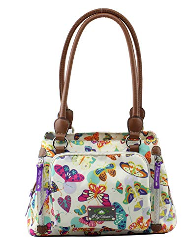 Lily bloom Maggie Satchel Handbag, Butterfly Twister, Multi-color, Large