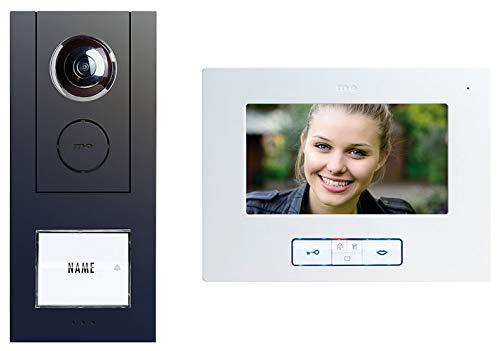 VISTUS VD ALU-6710 A Video-Türsprechanlage 7'' Aluminium Anthrazit Komplettset für 1-Familienhaus
