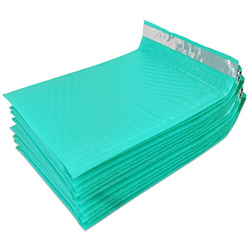 """Beauticom TEAL (50 Pieces) #000, 4""""x8"""" Self-Seal Poly Bubble Mailer Envelopes Eco Friendly Lightweight Made In The USA Photo #5"""