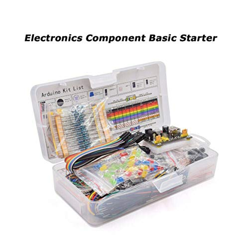 Kongqiabona-UK Electronics Component Basic Starter Kit w/830 Tie-points Breadboard Set