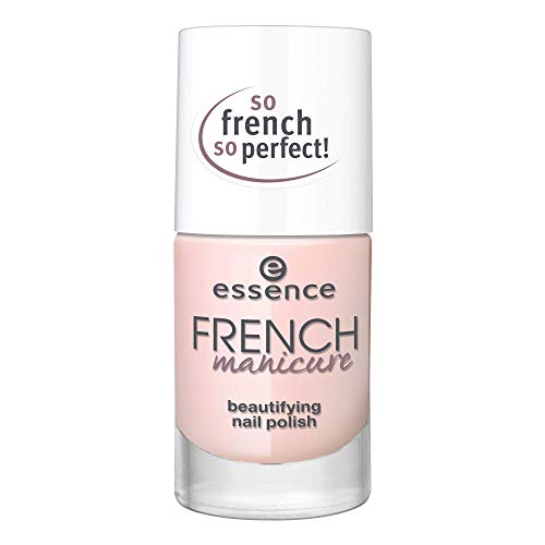 essence FRENCH manicure beautifying nail polish, French Maniküre, Nr. 02 FRENCHs are forever, nude, natürlich, scheinend, transluzent, ohne Aceton, vegan, ohne Konservierungsstoffe (10ml)