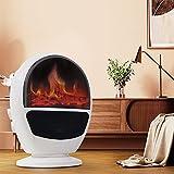 YQZ Chimenea eléctrica de Llama simulada en 3D de 1500 W, máquina de Calentamiento de Escritorio para el hogar, Calentadores eléctricos de Mano de Aire portátiles