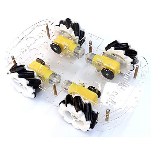 EMOZNY Mecanum Wheel Robot Kit 4WD Omnidirectional Wheels Smart Robot Car Chassis Kit