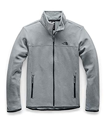 The North Face Women's TKA Glacier Full Zip Jacket, Mid Grey/Mid Grey, XXL