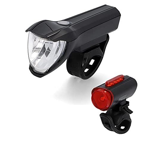 FISCHER USB Beleuchtungs-Set mit innovativer 360° Bodenleuchte für mehr Sichtbarkeit und Schutz | Frontlicht 50 Lux