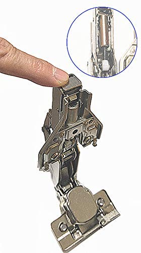 165 Degree Full Overlay Screw-On Lazy Susan Cabinet Hinge with Face Frame Plate for Door Connect Frame Kitchen Cabinet Corner Door Hinges Metal Lasy Susan Hardware Corner Cabinet Replacement