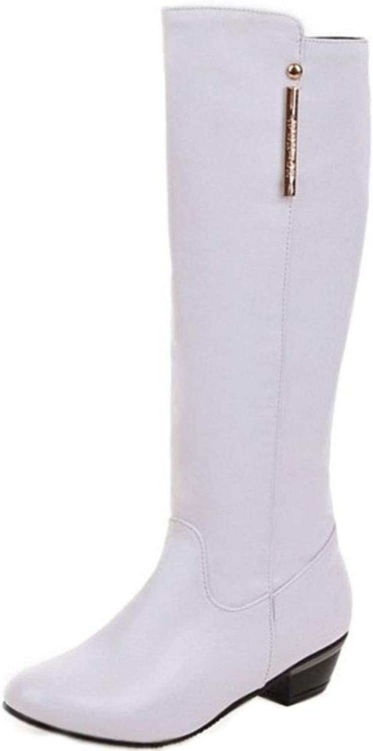 Unm Women's Fashion Mid Heel Over The Knee Boots