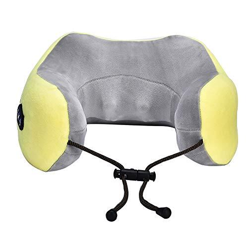Almohada de masaje en forma de U, masajeador inteligente de cuello con carga USB, almohada eléctrica de masaje para dormir, máquina de masaje para aliviar el dolor muscular, soporte cervical para