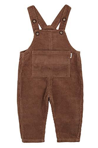 Camilife Baby Jungen Mädchen Kordsamt Latzhosen Overall Kord-Latzhose Cordhose Haremshose für Baby Kleinkind Kinder 1-4 Jahres alt Vintage Retro - Braun Größe 80