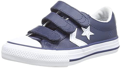 Converse Lifestyle Star Plyr 3V Ox, Zapatillas Unisex niño, Azul (Navy/White 412), 33 EU