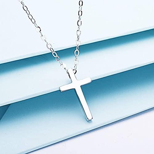 GYUFU Collar de Regalo para Mujer S925 Cruz de Plata Esterlina Collar con Colgante Cristiano para Parejas de Hombres Y Mujeres, Día de San Valentín Y Regalos de CumpleañosColgante cruz pequeña, SG