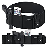 Belly Band Holster for Concealed Carry, Gun Holster for Men Women with Double Magazine Pouch, Waistband Holster Fit for Glock, Smith and Wesson, Ruger LCP, Sig Sauer, Taurus, 1911, Black