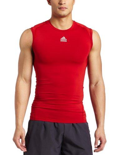 adidas Techfit - Camiseta sin Mangas para Hombre, Corte y Cosido (Universo Rojo, XL)