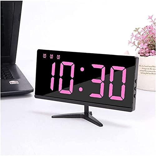 Reloj de Alarma de Reloj de Alarma con los Puertos del Cargador USB TV Digital TV Relojes de Alarma para el Dormitorio de la Tabla LED de la Pared
