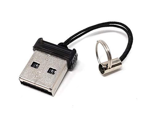 System-S Mini USB A Adapter für Micro SD SDHC T-Flash Karten Leser Card Reader Kartenlesegerät 2.0 schwarz