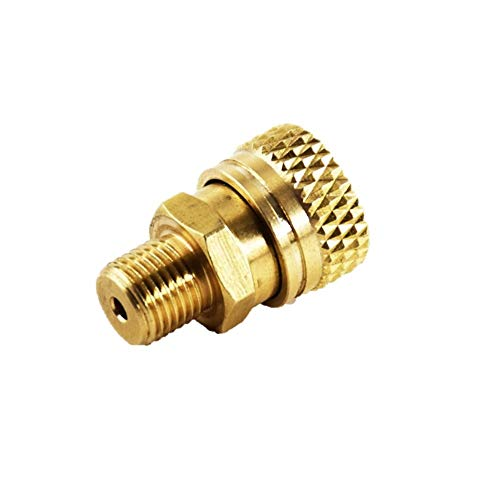 Flylock Universal 8mm 1/8' BSPP Male Thread Female Quick-Disconnect Copper Plug Adapter PCP Paintball Charging Fittings Plug