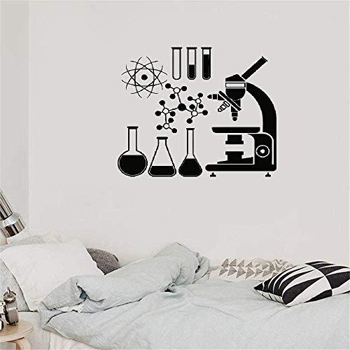 Wandtattoo Kinderzimmer Wandtattoo Wohnzimmer Mikroskop-Wissenschaftler-Chemie stößt Laborraum für Klassenzimmer oder Labor ab