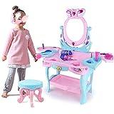 KX-YF Tocador para niños Juego de los niños Casa Conjunto de Juguete de simulación de Princesa Girl Tocador 3-6 años Edad Rompecabezas 46x31x82cm bebé de Juguete Gran Regalo para niños