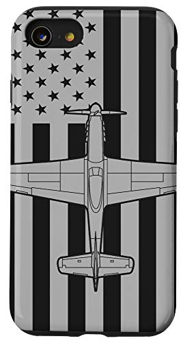 iPhone SE (2020) / 7 / 8 P-51 Mustang American Flag WWII Airplane Case