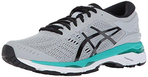 ASICS Women's Gel-Kayano 24 Running Shoe, Mid Grey/Black/Atlantis, 5.5 Medium US