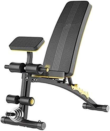 AINH Peso ajustable banco del entrenamiento plegable Bench, peso ajustable banco del entrenamiento de cuerpo completo con mancuernas banco Profesional aparatos de ejercicios supino Junta Ejercicio Ban