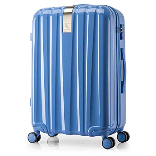 Hanke Town Store Treasure Hard Box Universal Wheel Trolley case 20 inch Suitcase 24 inch Male Suitcase Female Boarding Chassis (Color : Blue, Size : 20)