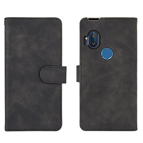 Cubierta protectora Caja de la billetera para Motorola Moto One Hyper, Cartera de cuero PU con titular de la tarjeta de crédito Tapa protectora a prueba de golpes para Motorola Moto One Hyper