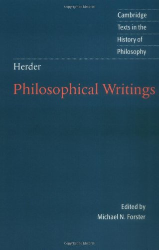Herder: Philosophical Writings (Cambridge Texts in the History of Philosophy)