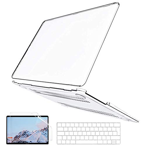 BELK Compatible with MacBook Pro 15 inch Case 2019 2018 2017 2016 Release A1990 A1707 with Touch Bar, Ultra Slim Lightweight Crystal Clear Plastic Hard Shell & Keyboard Cover & Screen Protector