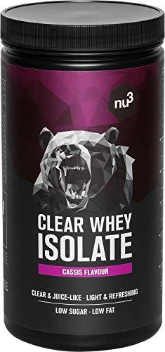nu3 proteína de suero aislada - 700 g de Whey Isolate sabor casis - 24,8g de proteína pura + 5,5g de BCAA - 83% de iso whey protein - Sin azúcar extra - Suplemento deportivo para ganar masa muscular