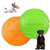 Perros interactivos Frisbee,2 Pcs Frisbee Perro,Juguete de Disco Volador para Perro,para Adiestramiento de Perros Juguetes de Tiro, Captura y Juego (L)