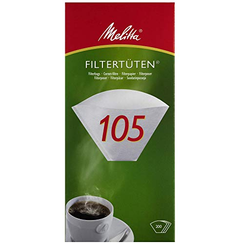 Melitta Filtertüten 105, Weiß, 200 Stück
