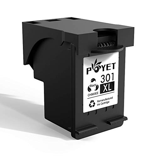Poyet 301XL Rigenerata Cartuccia d'inchiostro Sostituzione per HP 301XL HP301 XL HP 301 Ad alto Rendimento (1 Nero) CH563EE Compatibile con HP Deskjet 1000 1010 1050 2000 2050 HP Envy 4500 4502 4504