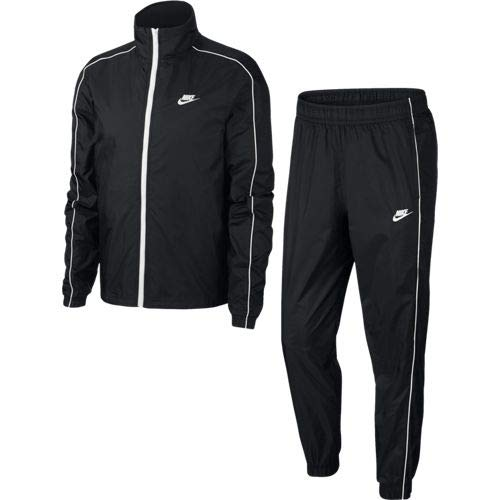Nike Herren M NSW CE TRK Suit WVN Basic Tracksuit, Black/White/(White), M