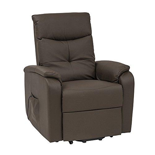 Cribel Etos D Relax-Sessel aus Lederimitat Schlamm