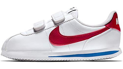 Nike Zapatillas Junior Cortez Basic SL (PS), Bianco, 27.5