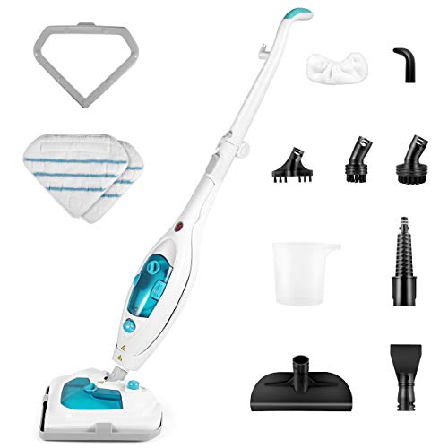 Steam Mop,1200W Powerful Chemical Free Hot Multifunctional Steam Cleaner Mops with Detachable Unit,Carpet Ceramic Sealed Hardwood Floor Cleaning Machines Including 11 Accessories Mop Steam Cleaners