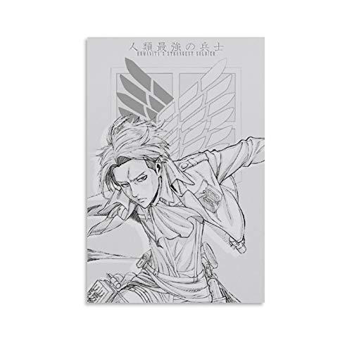 Megiri Ataque sobre el Titan-,Wings-of-Liberty-Dibujos Animes-(15) arte para pared de baño, 40 x 60 cm, pintura en lienzo para decoración del hogar, marco o desenmarcar