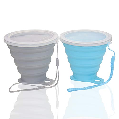Nanaborn Silicone Collapsible Cups for Camping Travel, Small Portable...