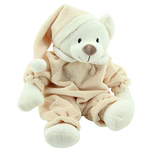 Sweety Toys 5802 Ours sommeil Ours Doudou Ours Sleepy 31 cm Marron clair