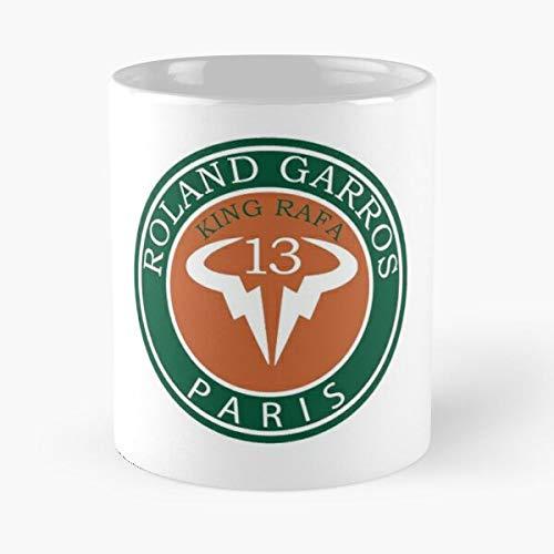 On Garros Champion Roland 20 Come Rafa Grand Nadal Slam Tennis Taza de café con Leche 11 oz