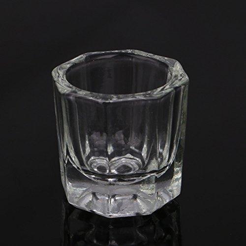 Anself Verre Cristal pour Acrylique Liquide Poudre Nail Art Coupe Verrerie Outil de manucure