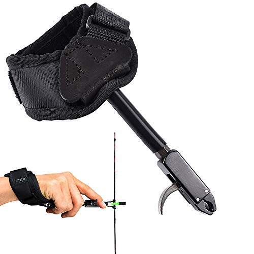 EOUS Archery Compound Bow Release Trigger Caliper Triggers Wrist Release Aid for Junior Shooter