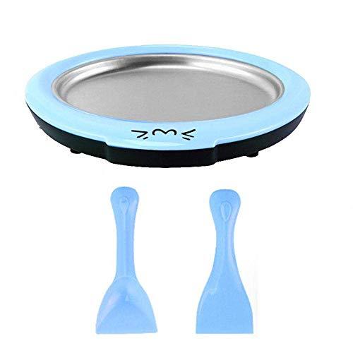 ZKO Ice Cream Roller, Hausgemachtes Gerolltes Eis, Gelato, Sorbet-Frozen Treat Maker Von Classic Cuisine, Kein Strombedarf, Leicht Zu Reinigen(Blue)