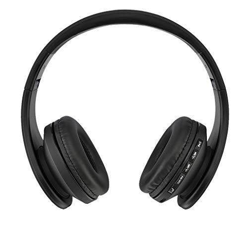 Yowablo Drahtloser Bluetooth Faltbarer Headset Stereo Kopfhörer Kopfhörer für iPhone / Samsung(Schwarz)
