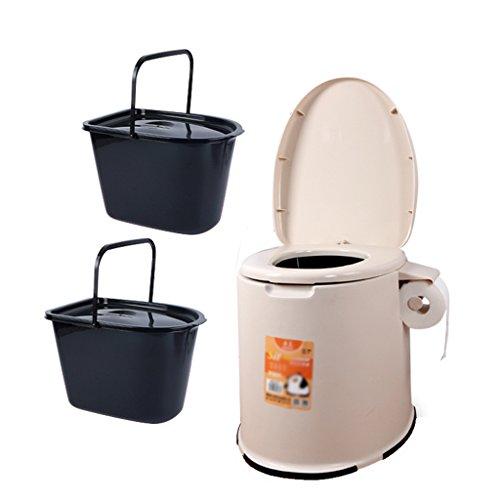 MyAou-commode Portable Camp Toilette Portable Toilette Voyage Camping Randonnée Pique-Nique Festival en Plein Air (Couleur : Marron)