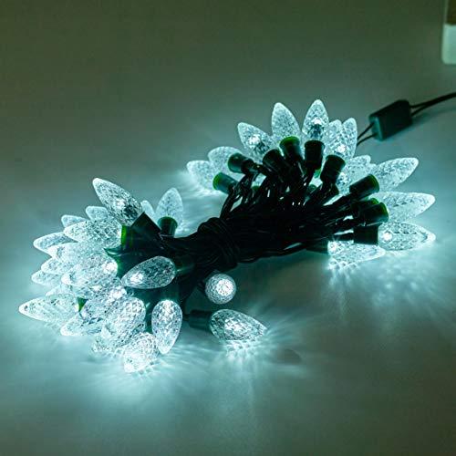 Christmas Workshop 75570 50 LED Berry Chaser lichten op batterijen met timer, transparant wit